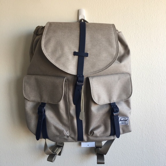 76187c0c5afd NWT Herschel Dawson XS Khaki and Navy Backpack